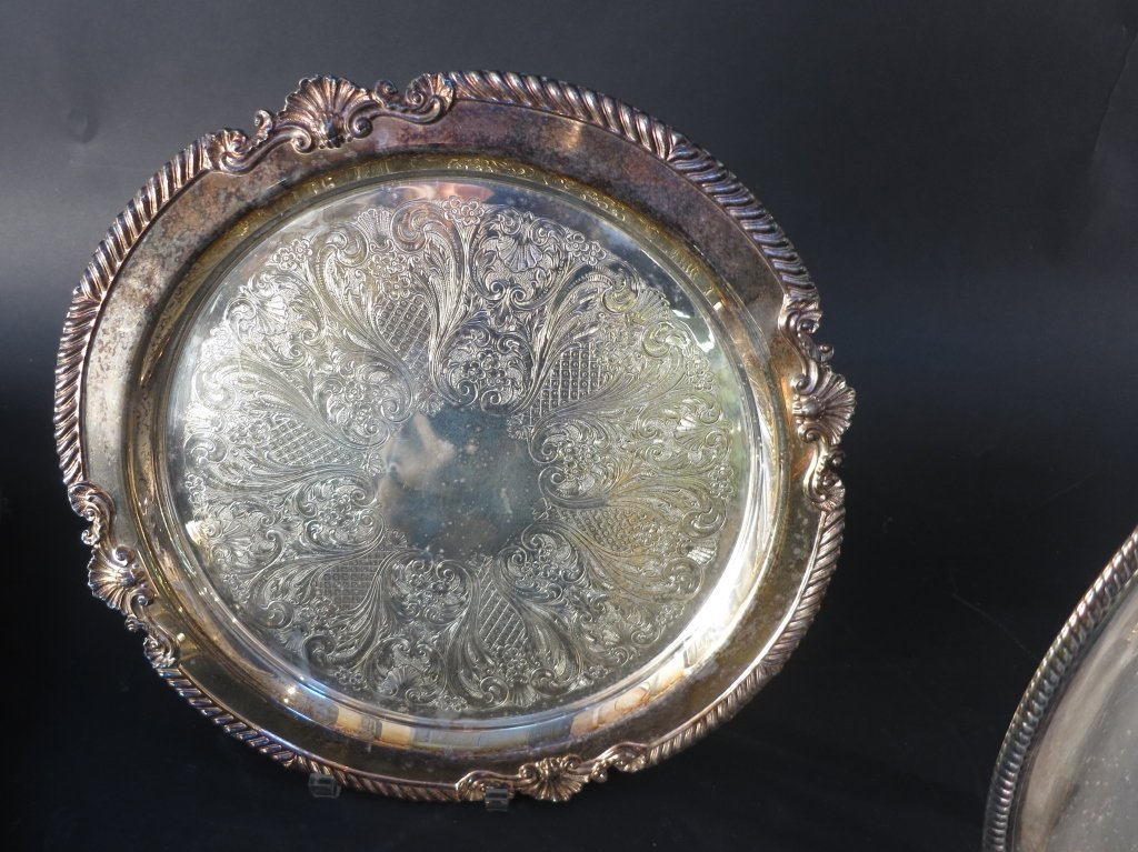 Silver Plate and Sconce Group Lot - 3