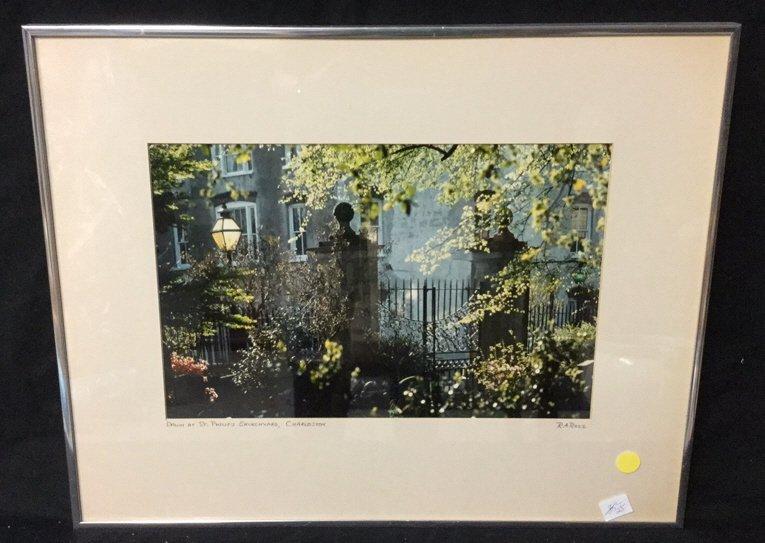 Framed Photo of Charleston Signed RARocz