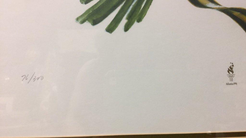 Signed Floral Print Gold Frame 76/300 - 5