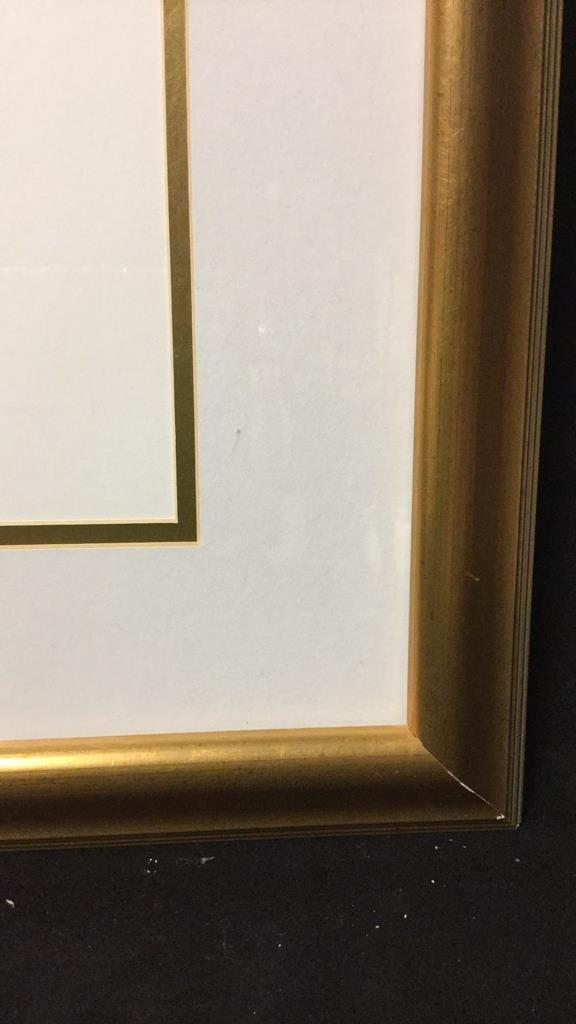Signed Floral Print Gold Frame 76/300 - 7