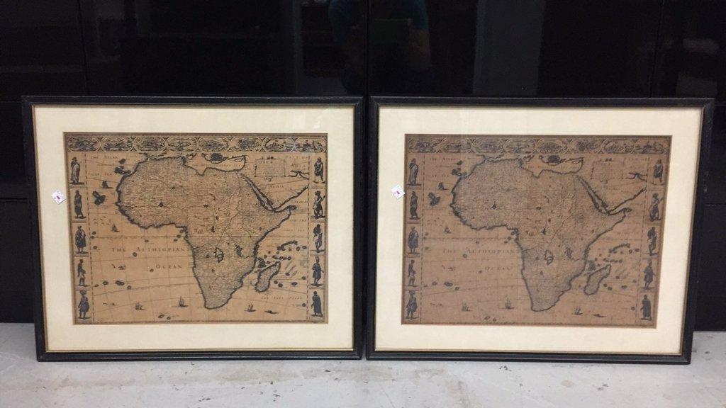 Pair Framed Maps Africa
