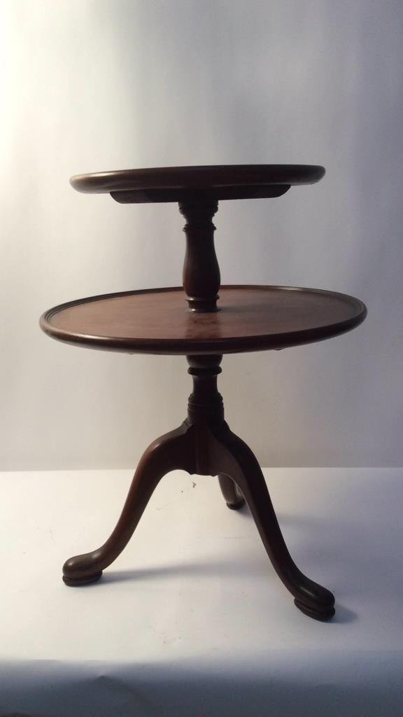 Two Tier Round Pedestal Table