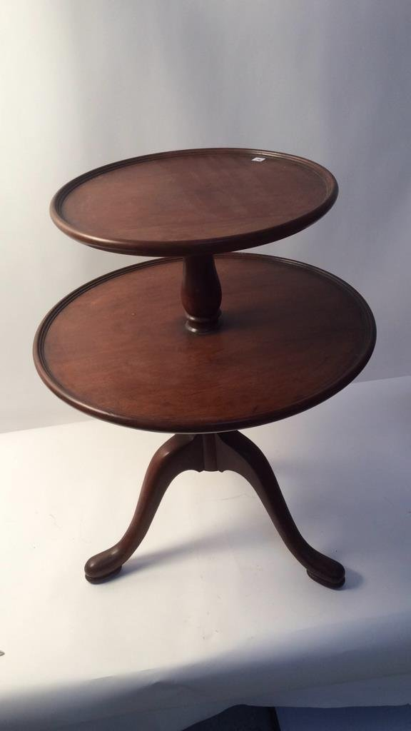 Two Tier Round Pedestal Table - 3
