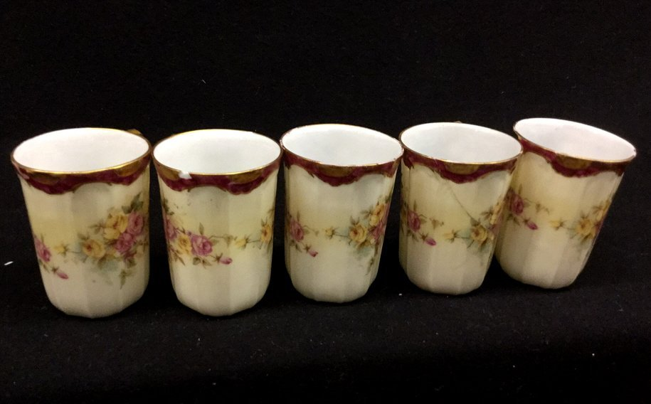 6 Piece Limoges Group lot Tea Cups And Plate
