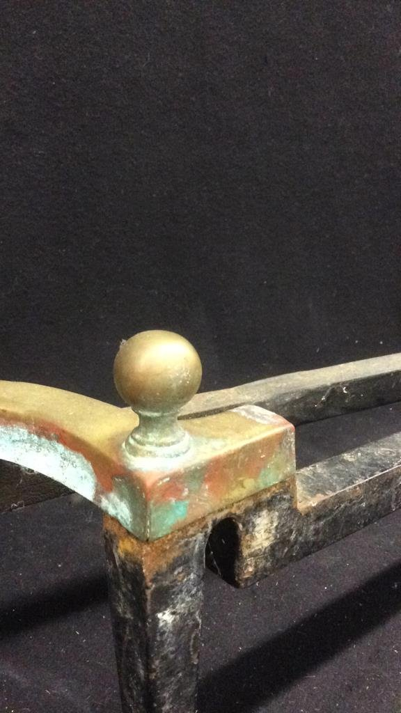 Pair of Brass and Iron Andirons - 3