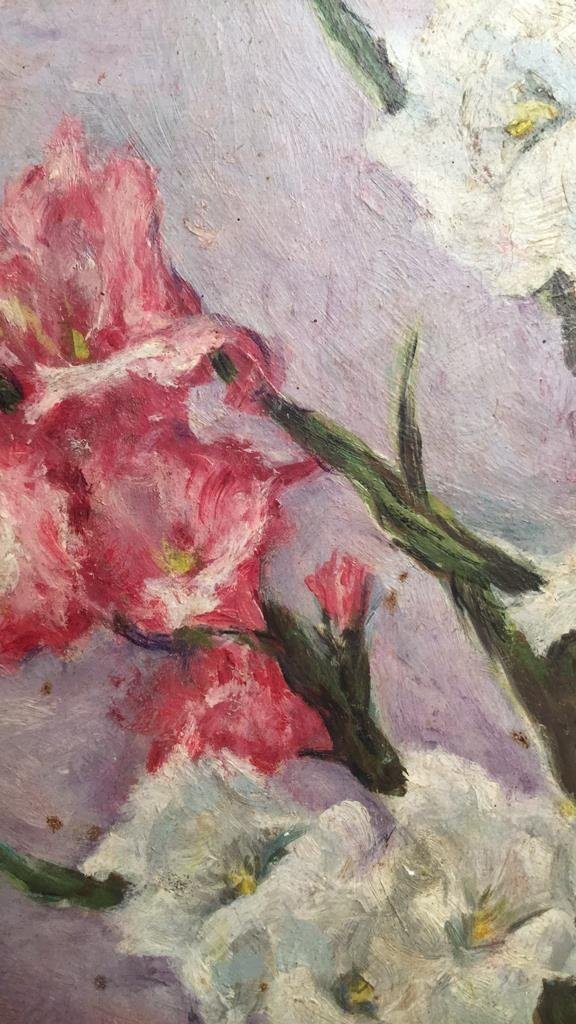 G. M. R. Signed Floral Oil on Board - 4