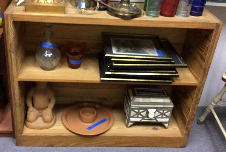 Wood Short Book Shelf
