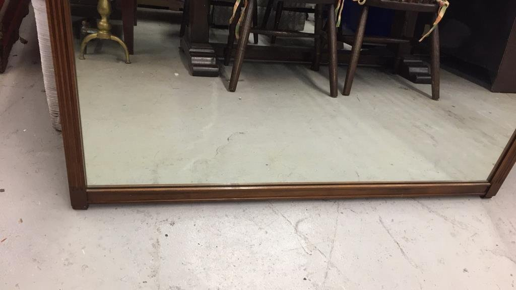 Vintage Mirror with Carved Headrail Planter Motif - 4