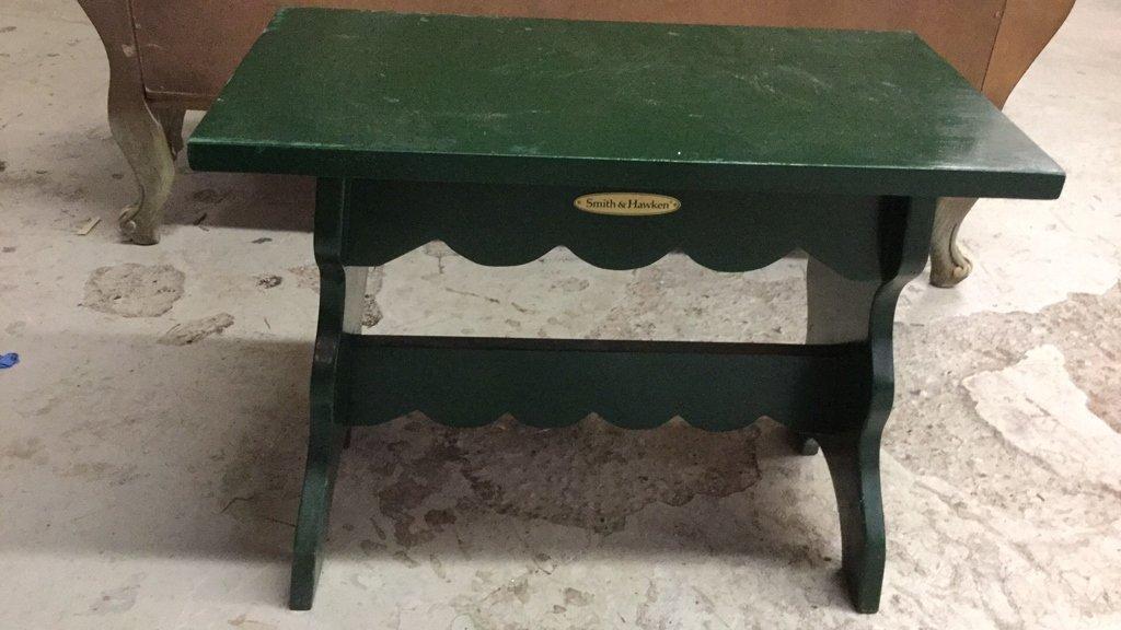 HandPainted Smith & Hawkins Green Bench