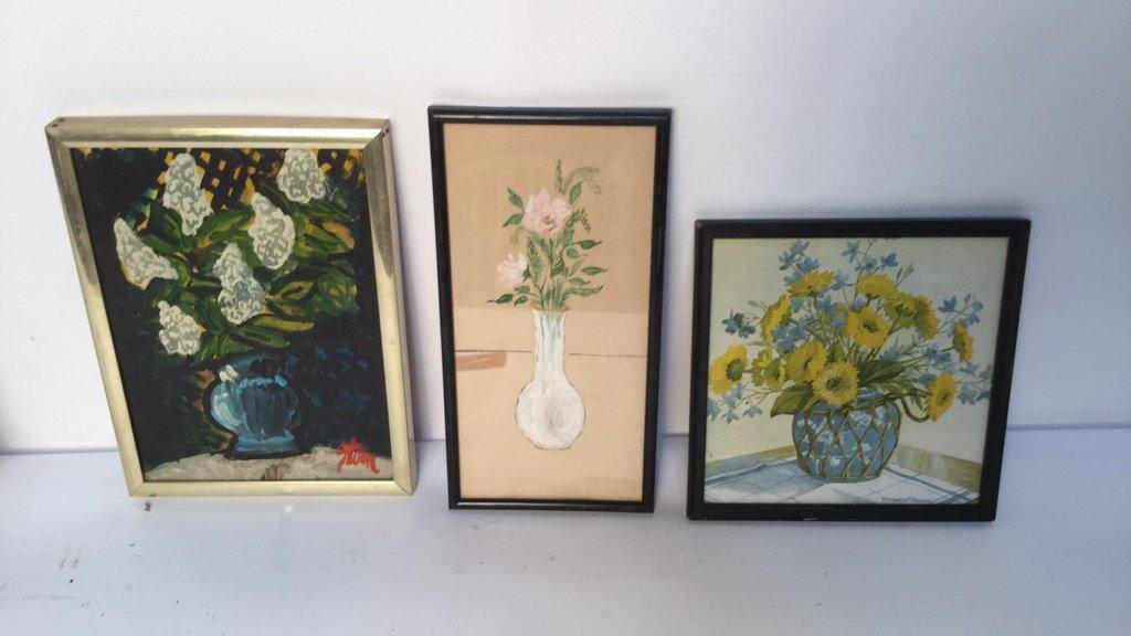 Set of 3 Floral Artworks