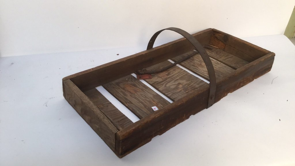 Antique Strawberry Basket with Iron Handle