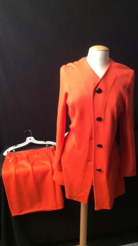 Vintage Orange Jacket and Skirt