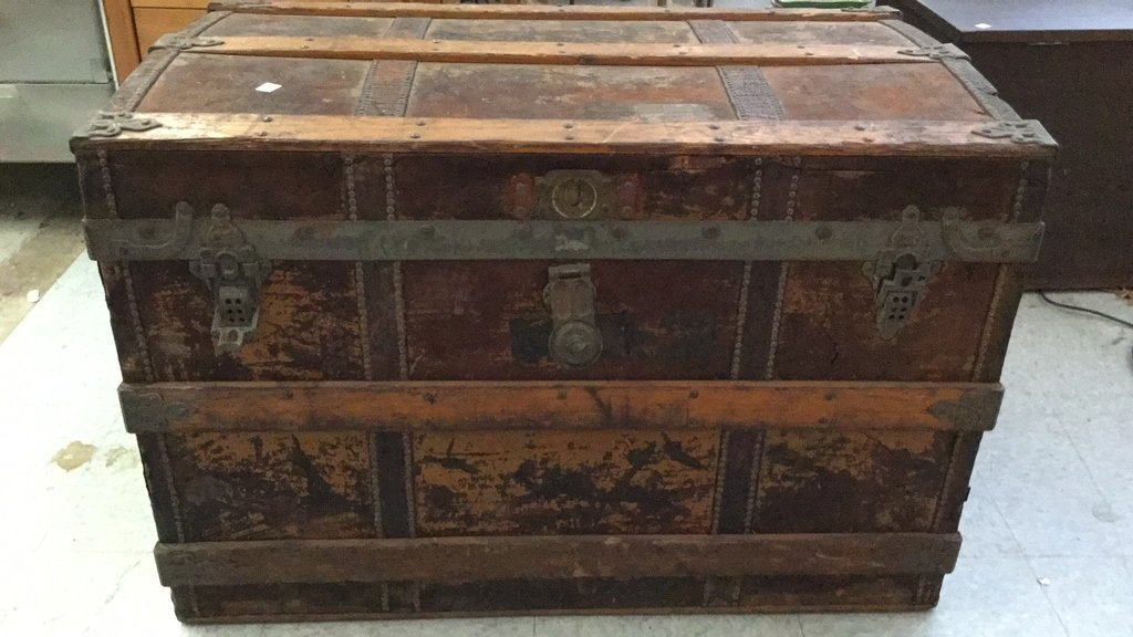 Antique Crouch & Fitzgerald 1886 Chest