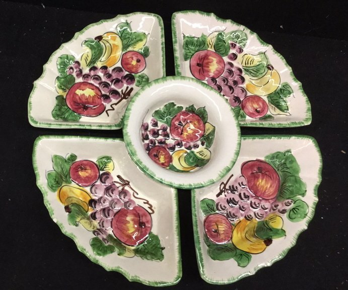Set of 5 Matching Serving Pieces Italian.