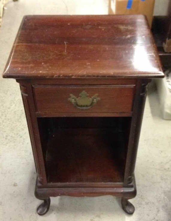 Vintage Wood Night Table