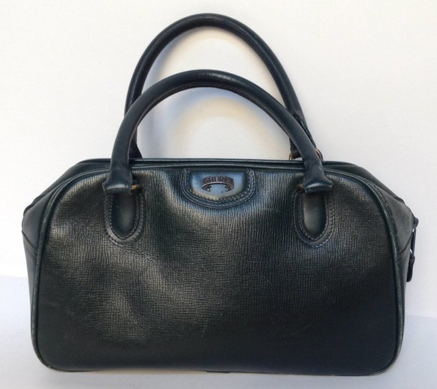 GHURKA Green Leather Bag