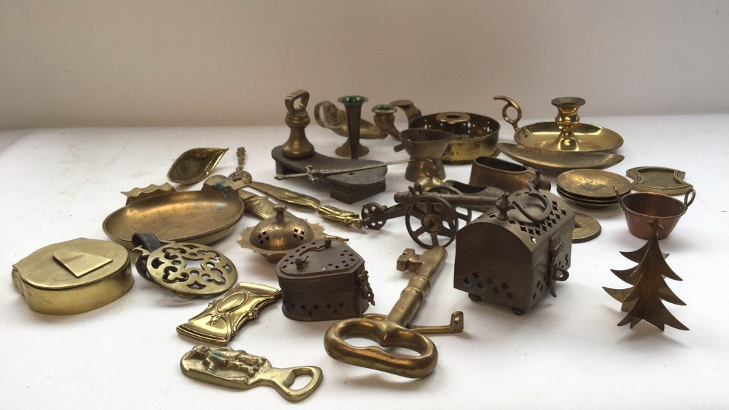 Large Group lot Brass Table Articles