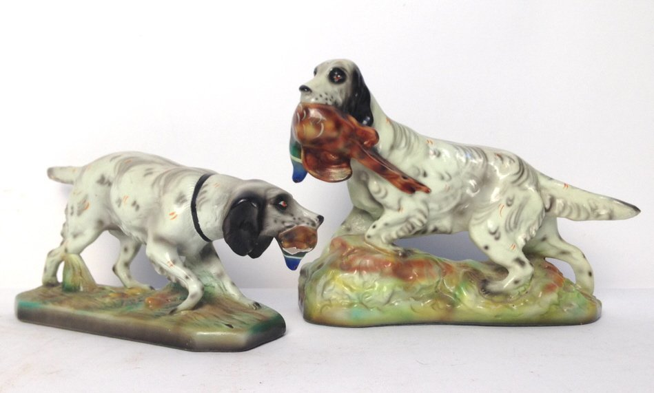 Pair Hunting Dogs Robia Ware