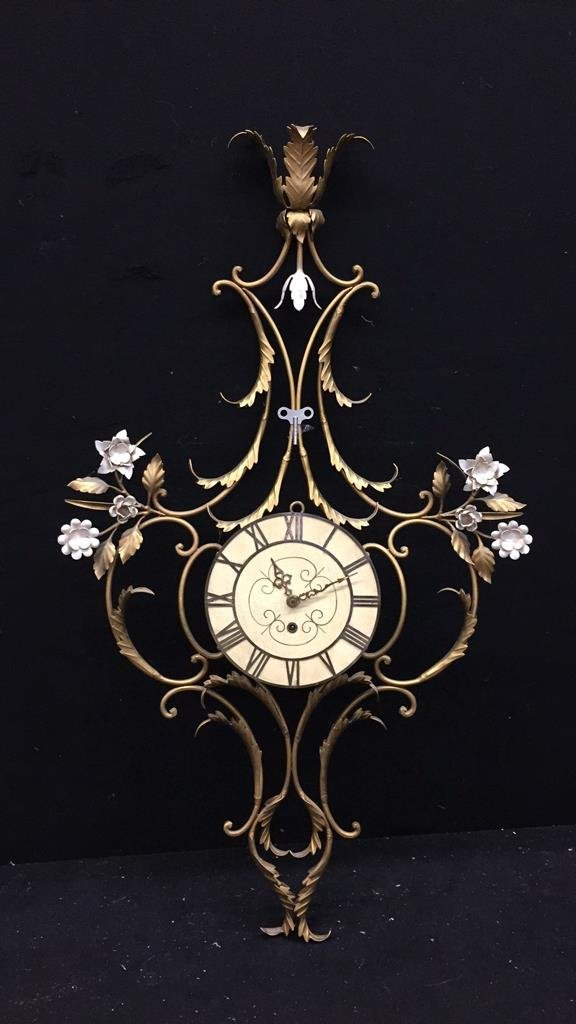 Ornate Gold Painted Clock