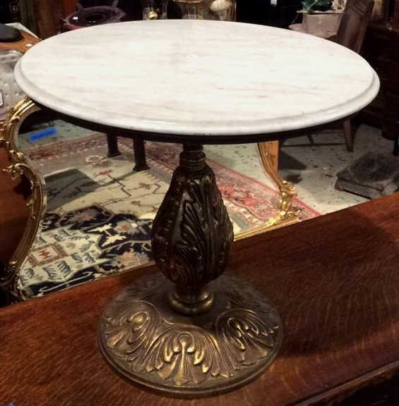 Vintage Marble Top Side Table