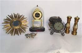 Gold Desk and Table Group Lot of 8