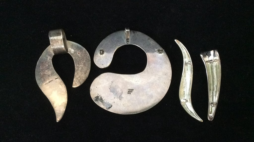 11 Piece Sterling Silver Necklace Lot - 5