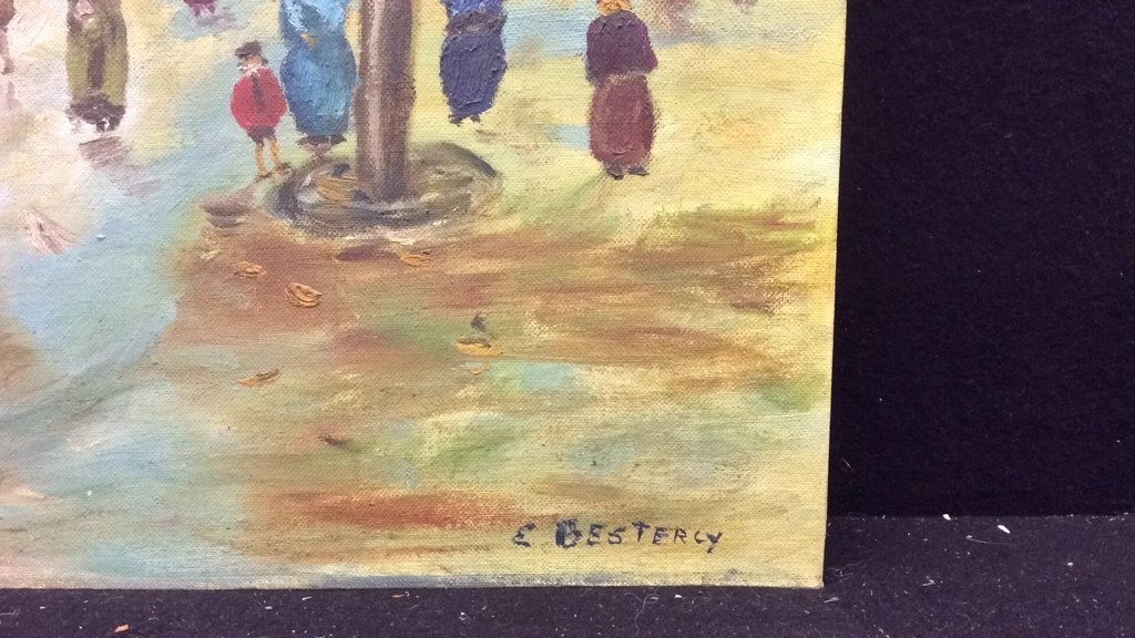Unframed E. Bestercy Signed Oil Painting - 2