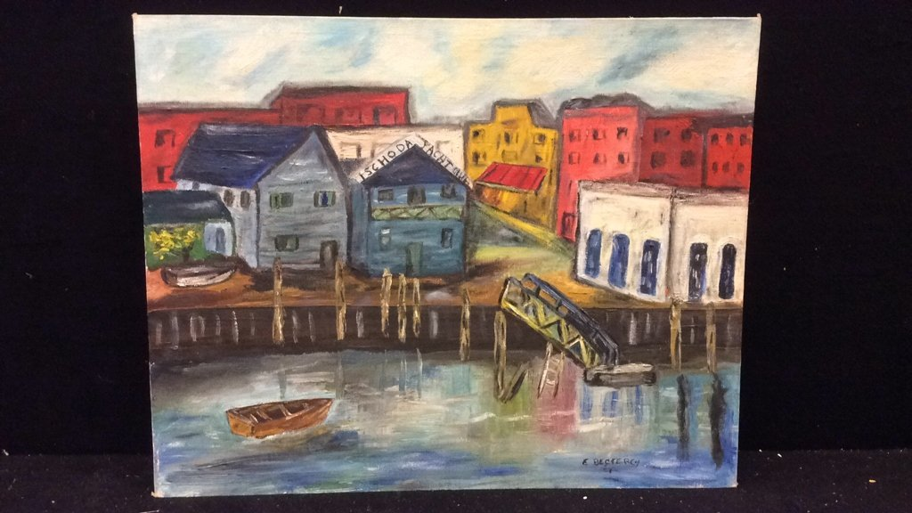 Unframed E. Bestercy Signed Oil Painting - 3