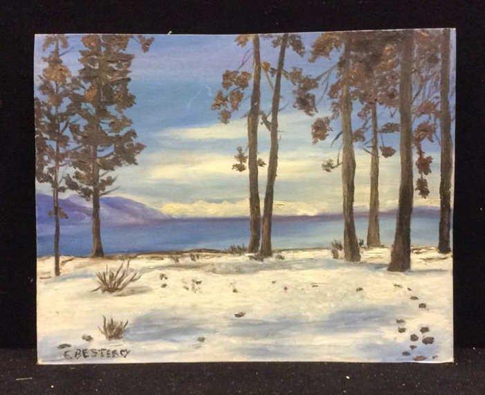 Unframed E. Bestercy Signed Oil Painting