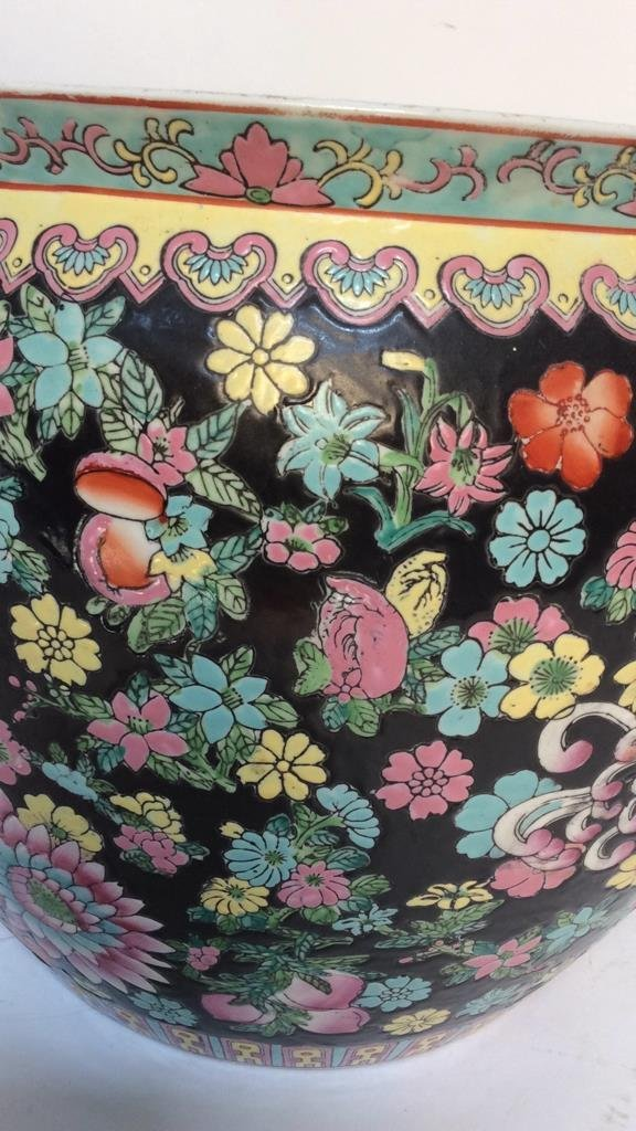 Asian Floral Fish Bowl - 3