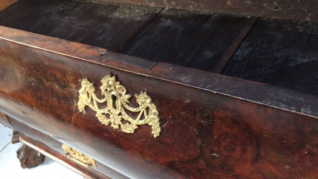 Antique 18th Century Dutch Chest w China Cabinet - 6