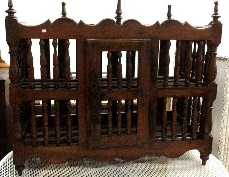 19th c French Panettiere Antique Cabinet