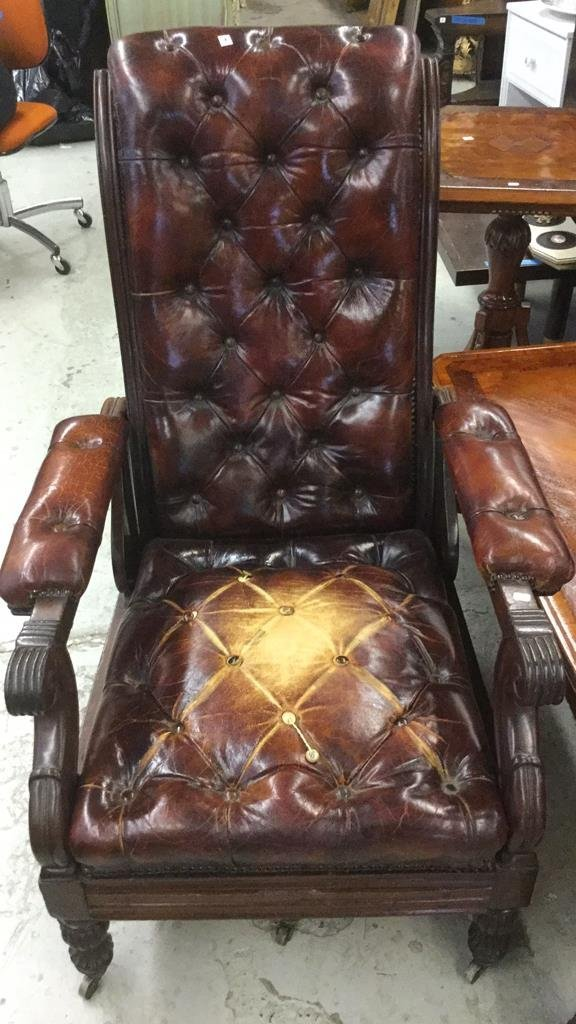 Antique Leather Arm Chair