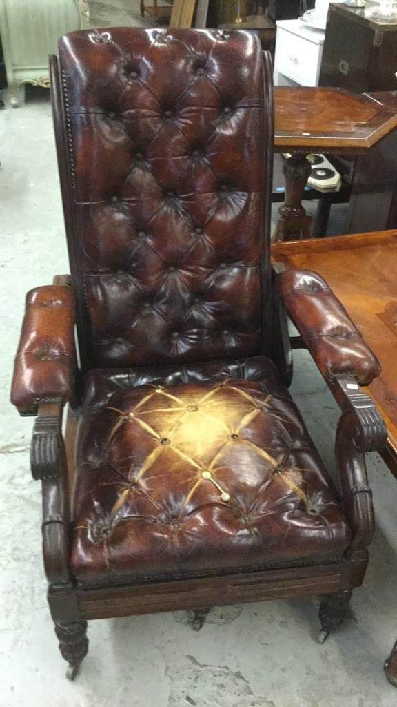Antique Leather Arm Chair - 2