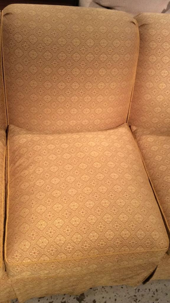 Three Person Gold Unique Pattern Couch - 3