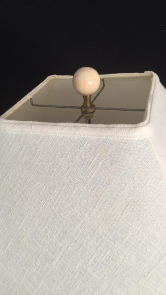 Light Wood Twisted Floor Lamp - 4