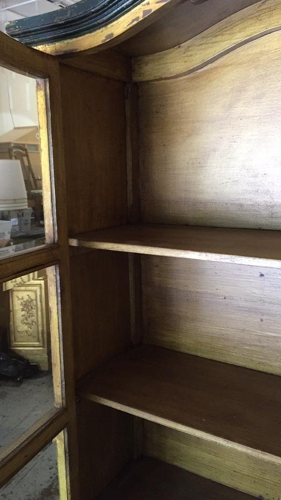 Antique Country French Rustic Display Cabinet - 5
