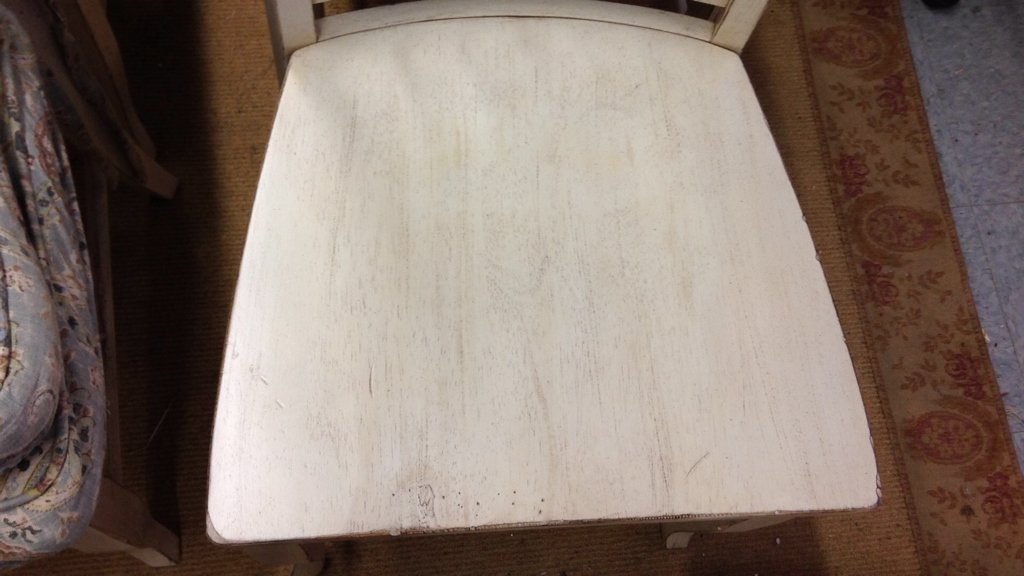 Set 4 COUNTRY WILLOW White Wood Chairs - 6