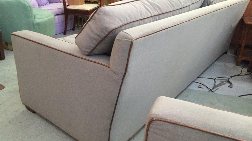 Ralph Lauren Streamline Upholstered Sofa - 6