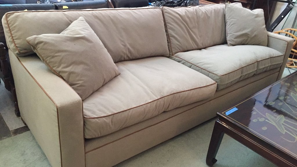 Ralph Lauren Streamline Upholstered Sofa