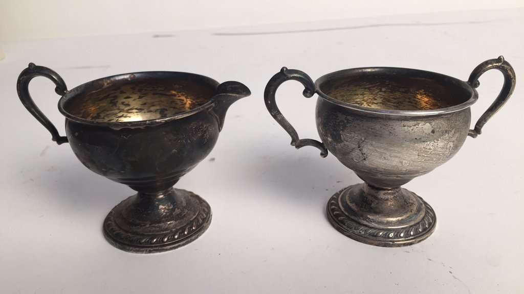 Set of Sterling Silver Sugar & Creamer