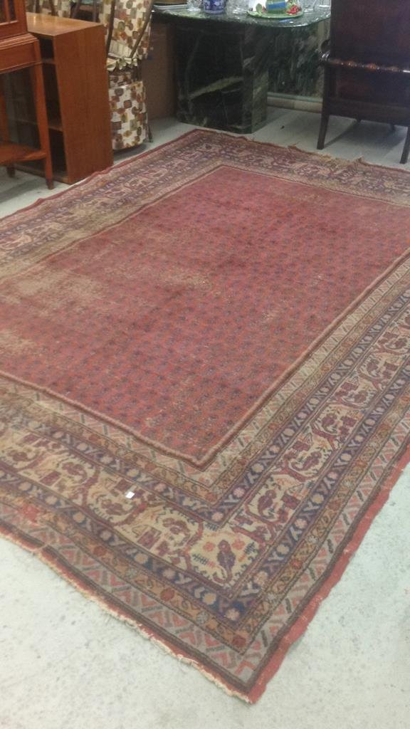 Antique Hand Made Wool Rug