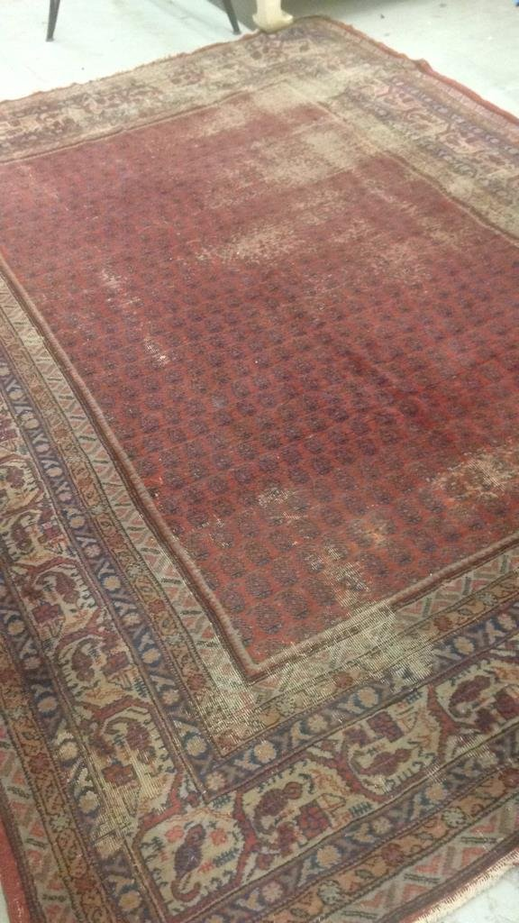 Antique Hand Made Wool Rug - 3