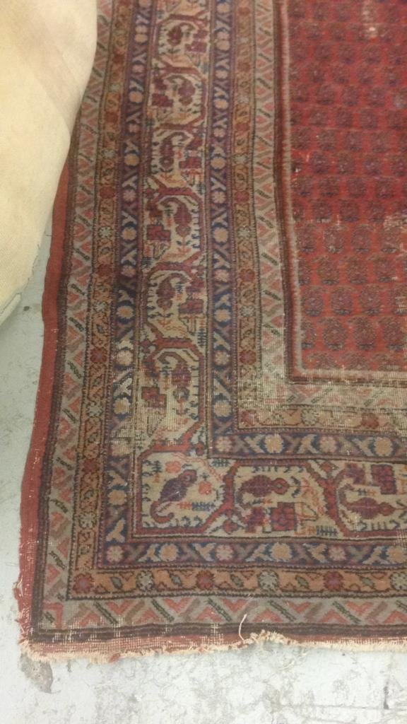 Antique Hand Made Wool Rug - 4