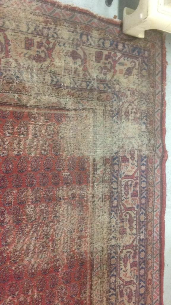 Antique Hand Made Wool Rug - 6