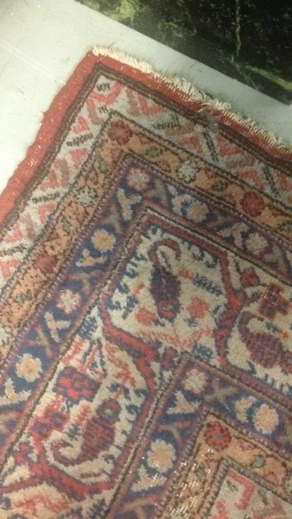Antique Hand Made Wool Rug - 8