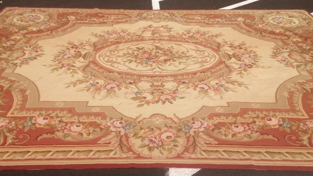 Large Aubusson Hand Knotted Carpet