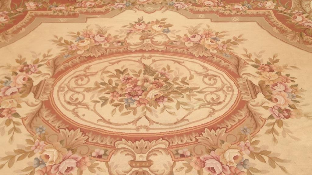 Large Aubusson Hand Knotted Carpet - 2