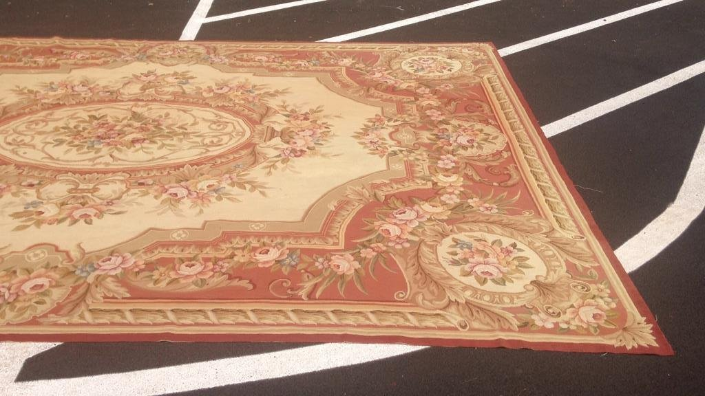 Large Aubusson Hand Knotted Carpet - 3