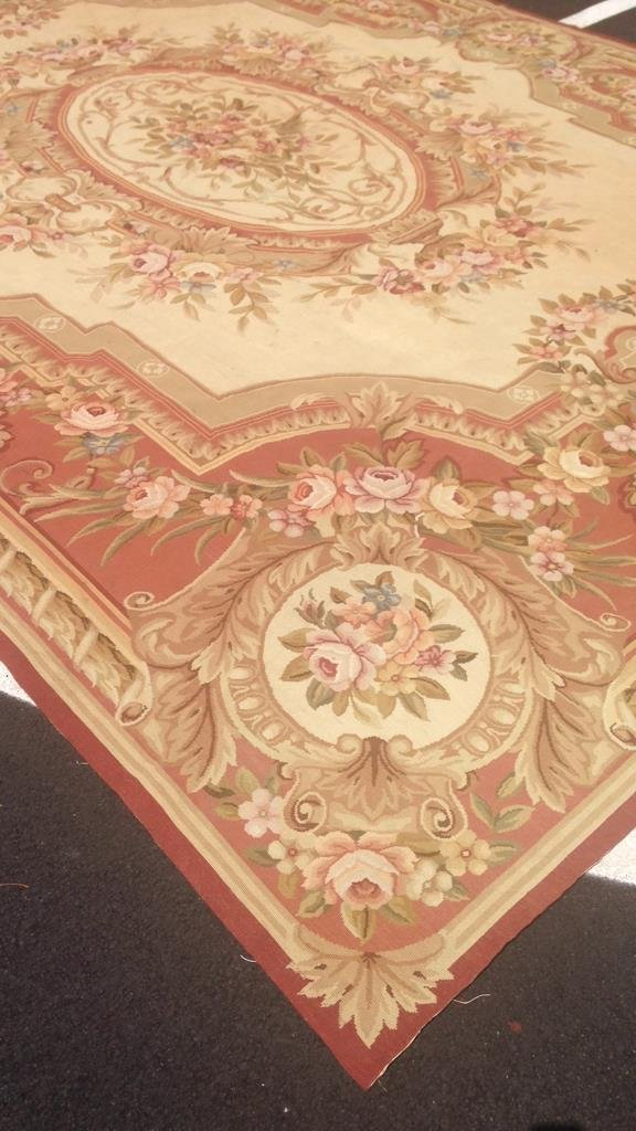 Large Aubusson Hand Knotted Carpet - 4